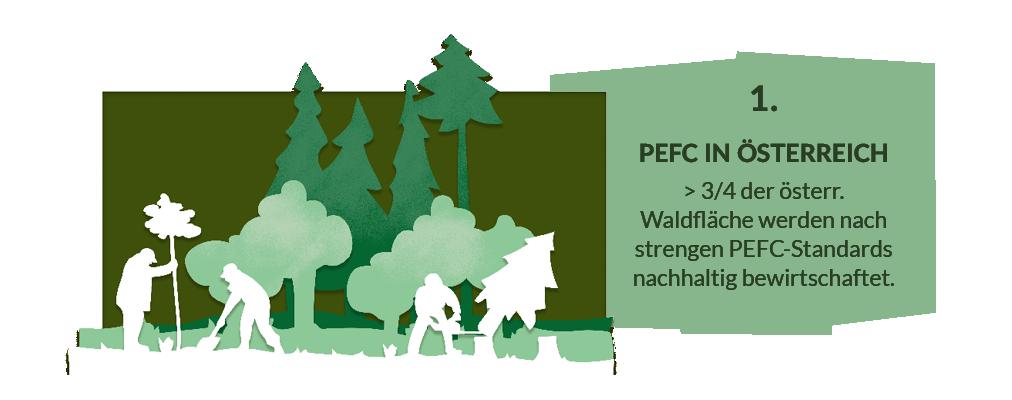 Erklärt das PEFC Zertifikat