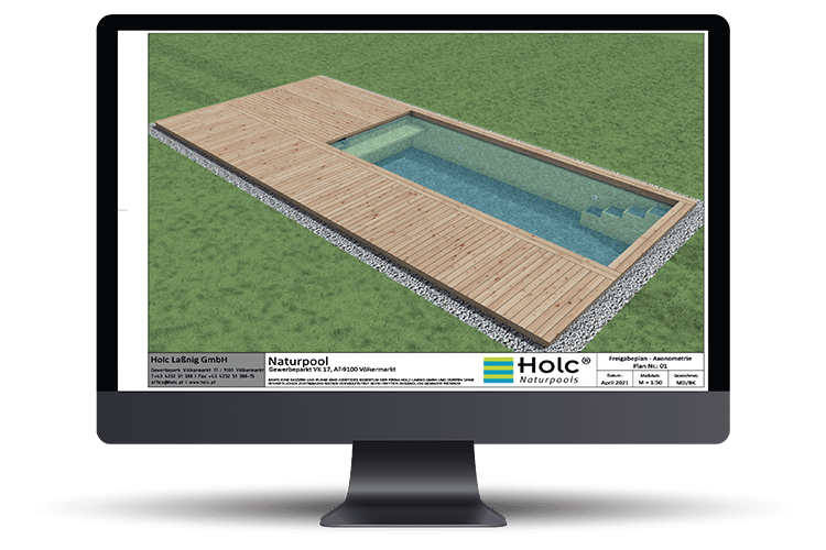 Zeigt einen 3D Pool in der Planungsphase